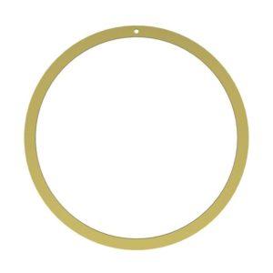Wohngoldstück_Ring Wreath Brass 40cm Cooee Design