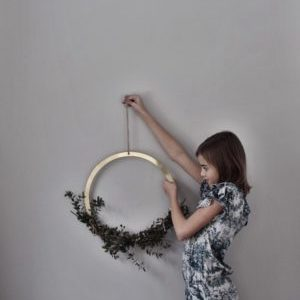 Wohngolstück_Ring Wreath Brass 40cm Cooee Design