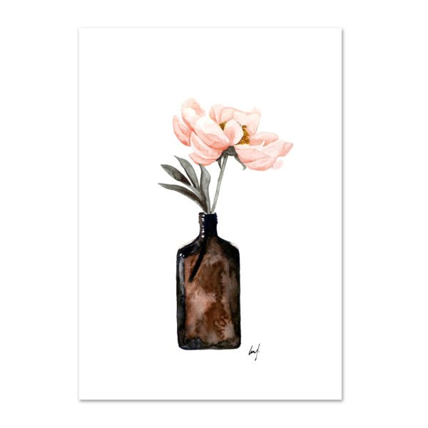 Wohngoldstueck_Kunstdruck Leo la Douce Coral Blossom