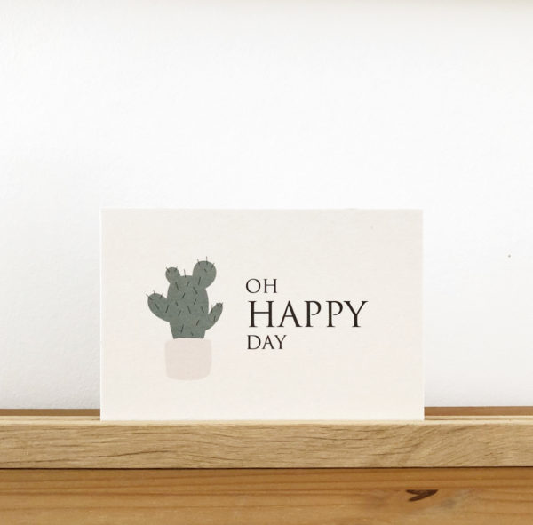Wohngoldstueck_Postkarte Papier Ahoi Oh happy day