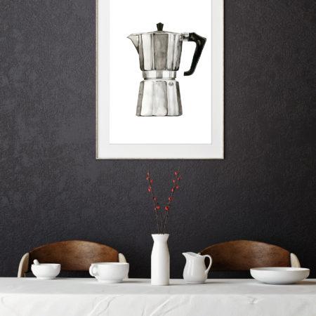 Wohngoldstueck_Kunstdruck Leo la Douce Espresso Maker 2