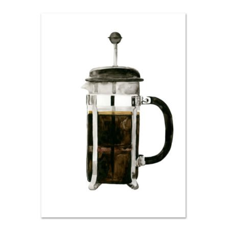 Wohngoldstueck_Kunstdruck Leo la Douce French Press