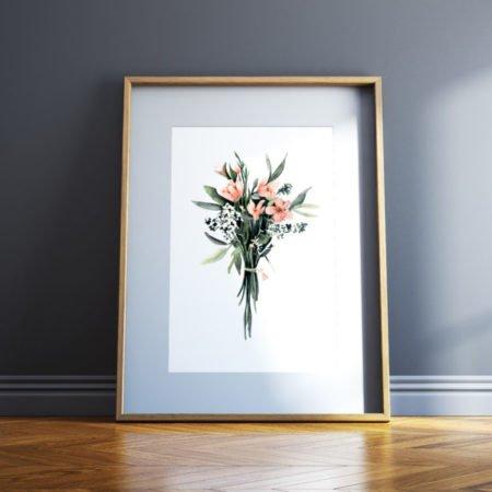 Wohngoldstueck_Kunstdruck Leo la Douce Flower Bouquet