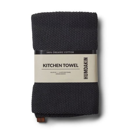 Wohngoldstueck_Humdakin Kitchen Towel Knitted Coal