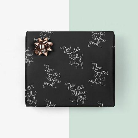 Wohngoldstueck_:Typealive Geschenkpapier Dear Santa