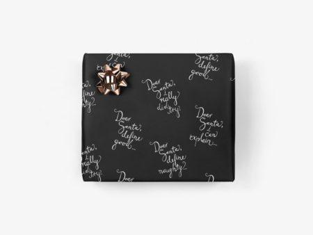 Wohngoldstueck_Typealive Geschenkpapier Dear Santa