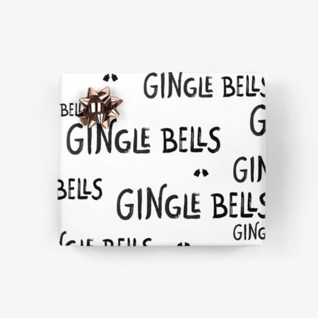 Wohngoldstueck_Typealive Geschenkpapier Gingle Bells