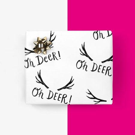 Wohngoldstueck_Typealive Geschenkpapier Oh Deer