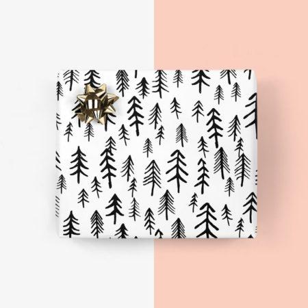 Wohngoldstueck_Typealive Geschenkpapier Wald