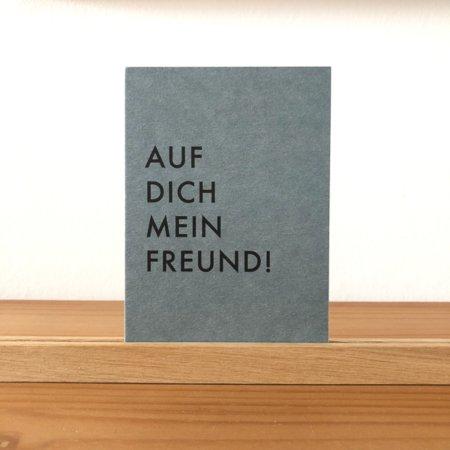 Wohngoldstueck_Postkarte Papier Ahoi Auf dich mein Freund