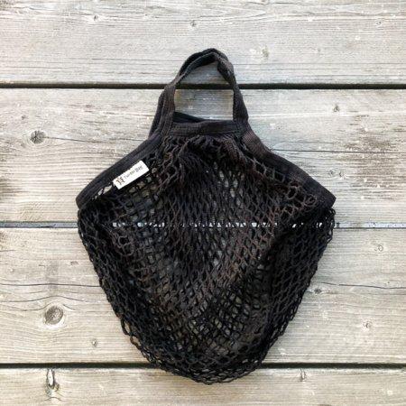 Wohngoldstueck_Turtle Bags Einkaufsnetz Schwarz kurzer Henkel