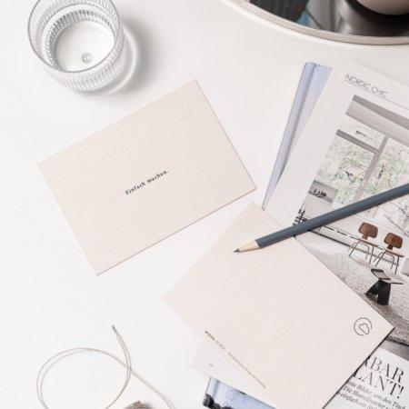 Wohngoldstueck_Postkarte Einfach machen Wohnglück