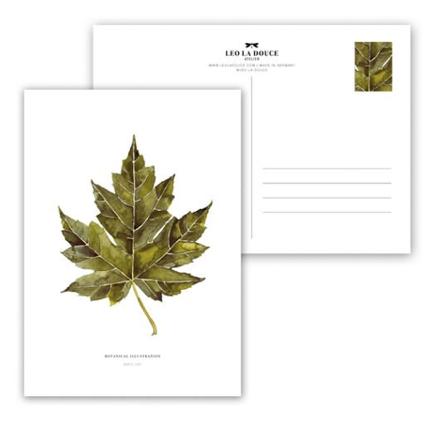 Wohngoldstueck_Postkarte Leo la Douce Maple Leaf