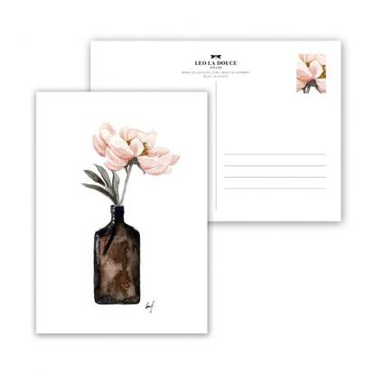 Wohngoldstueck_Postkarte Leo la Douce Coral Blossom