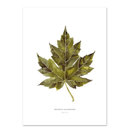 Wohngoldstueck_Kunstdruck Leo la Douce Maple Leaf