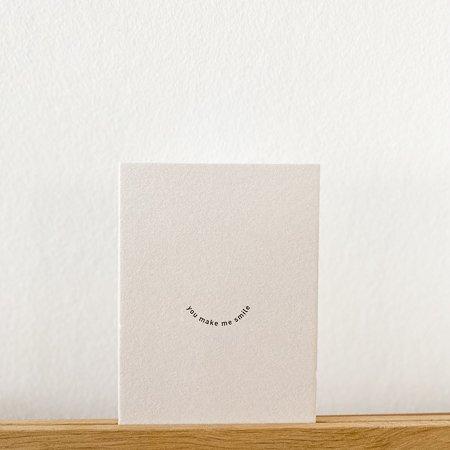 Wohngoldstueck_Postkarte Papier Ahoi You make me smile