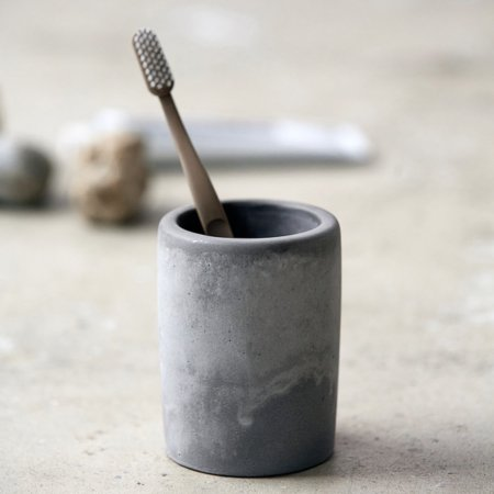 Wohngoldstueck_Meraki Zahnputzbecher Cement