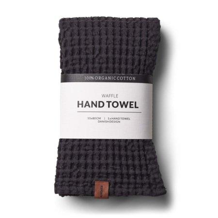 Wohngoldstueck_Humdakin Hand Towel Waffle Coal