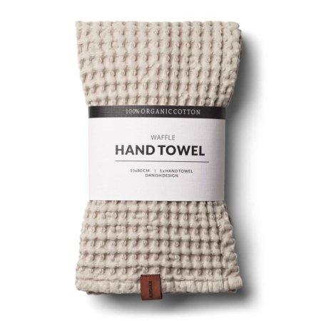 Wohngoldstueck_Humdakin Hand Towel Waffle Light Stone