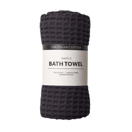 Wohngoldstueck_Humdakin Bath Towel Waffle Coal