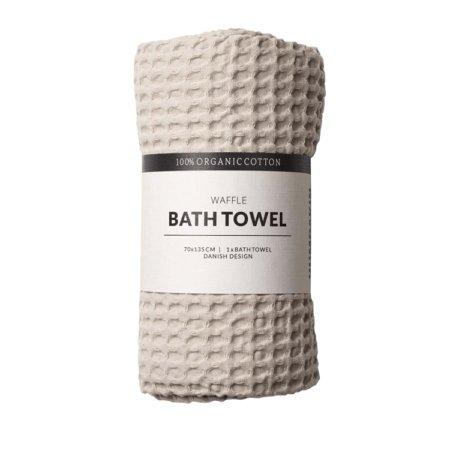 Wohngoldstueck_Humdakin Bath Towel Waffle Light Stone