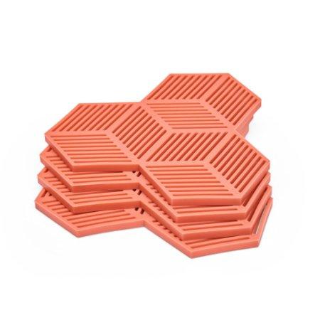 Wohngoldstueck_Untersetzer Sico Silikon Puik Terrakotta