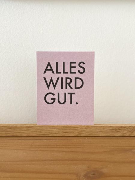 Wohngoldstueck_Postkarte Papier Ahoi Alles wird gut