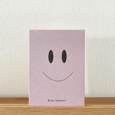 Wohngoldstueck_Postkarte Papier Ahoi Bitte lächeln