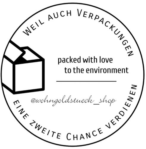 Wohngoldstueck_Nachhaltigkeit Stempel Karton Verpackung